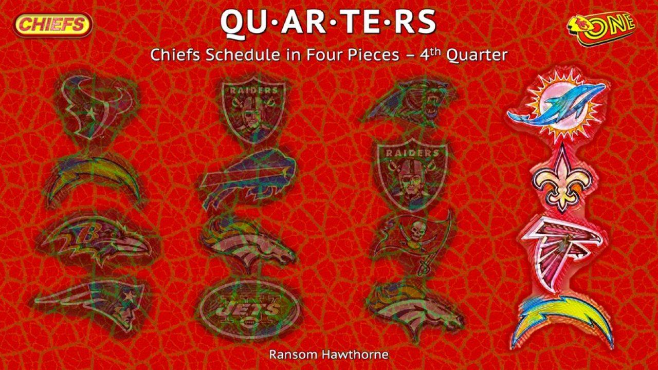 Quarters Chiefs Schedule In Four Pieces 4th Quarter